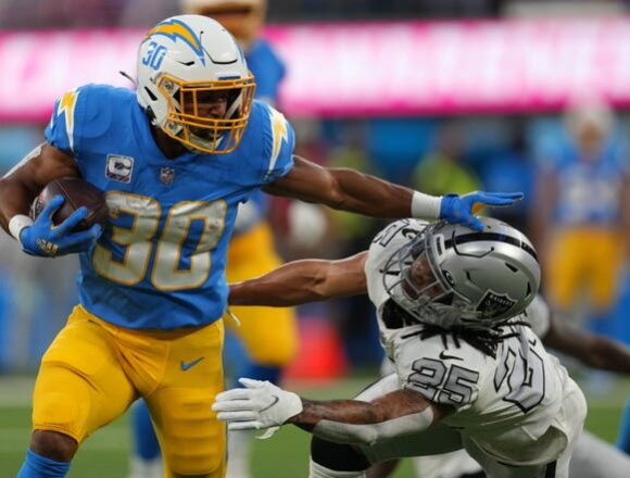 Justin Herbert, Austin Ekeler spark Los Angeles Chargers' win over Las Vegas Raiders on MNF